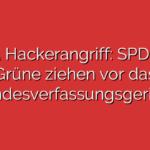 PUA Hackerangriff: SPD und Grüne ziehen vor das Landesverfassungsgericht